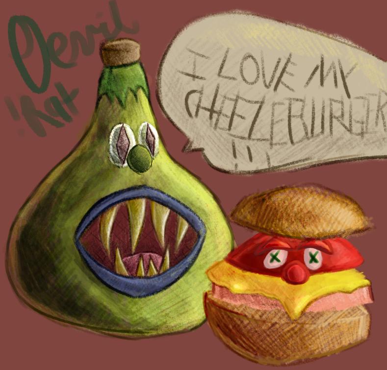 He Loves His Cheeseburger.