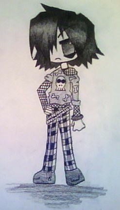 anime emo boy
