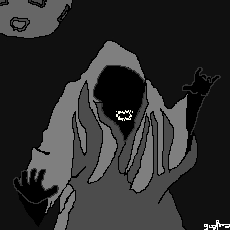 Ghost in moon