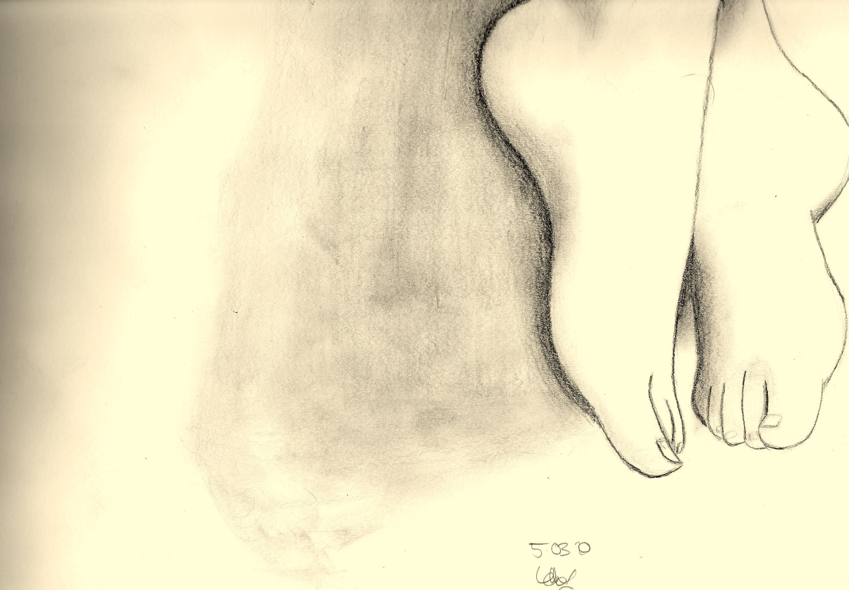 Not my feet.
