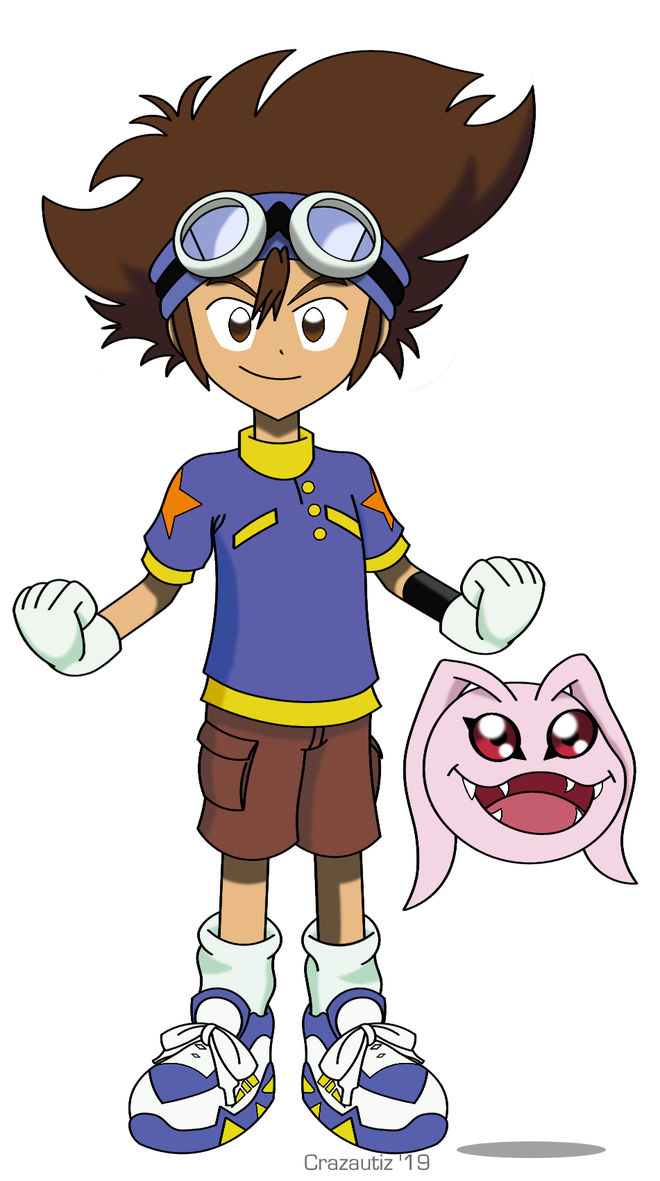 Tai and Koromon