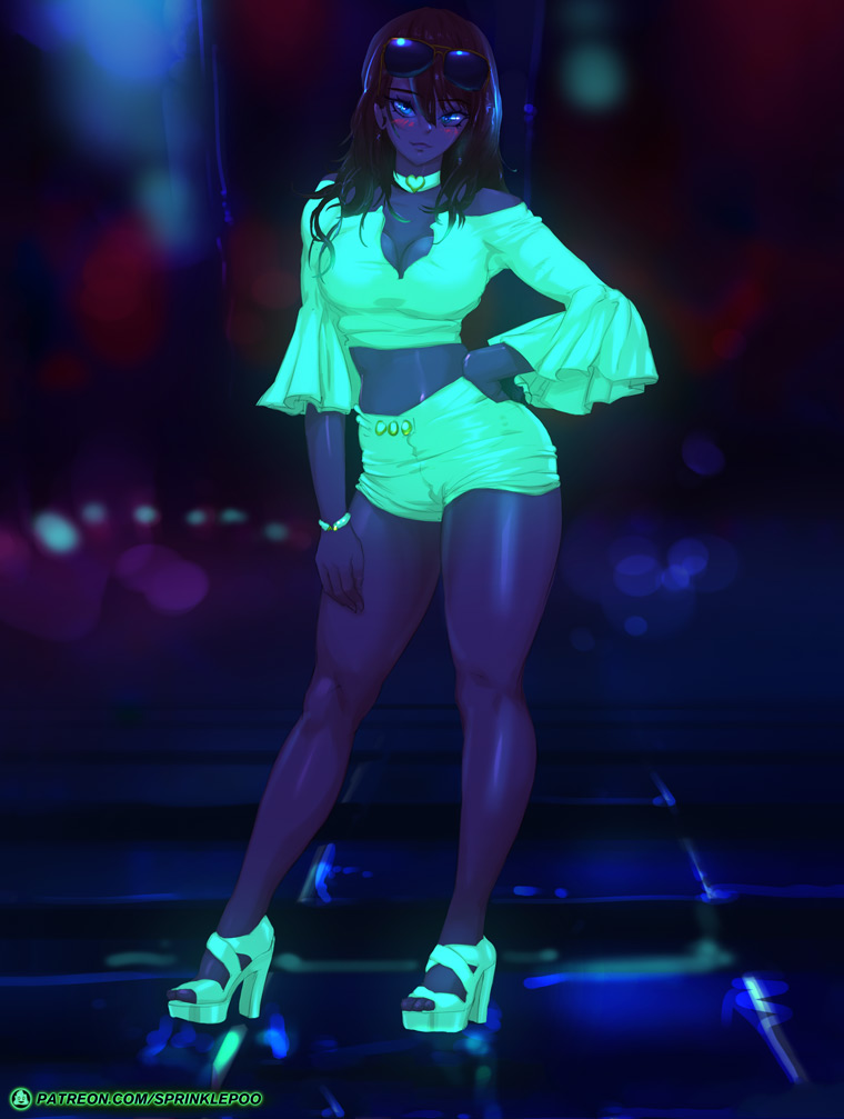 Glowy NightClub Babe