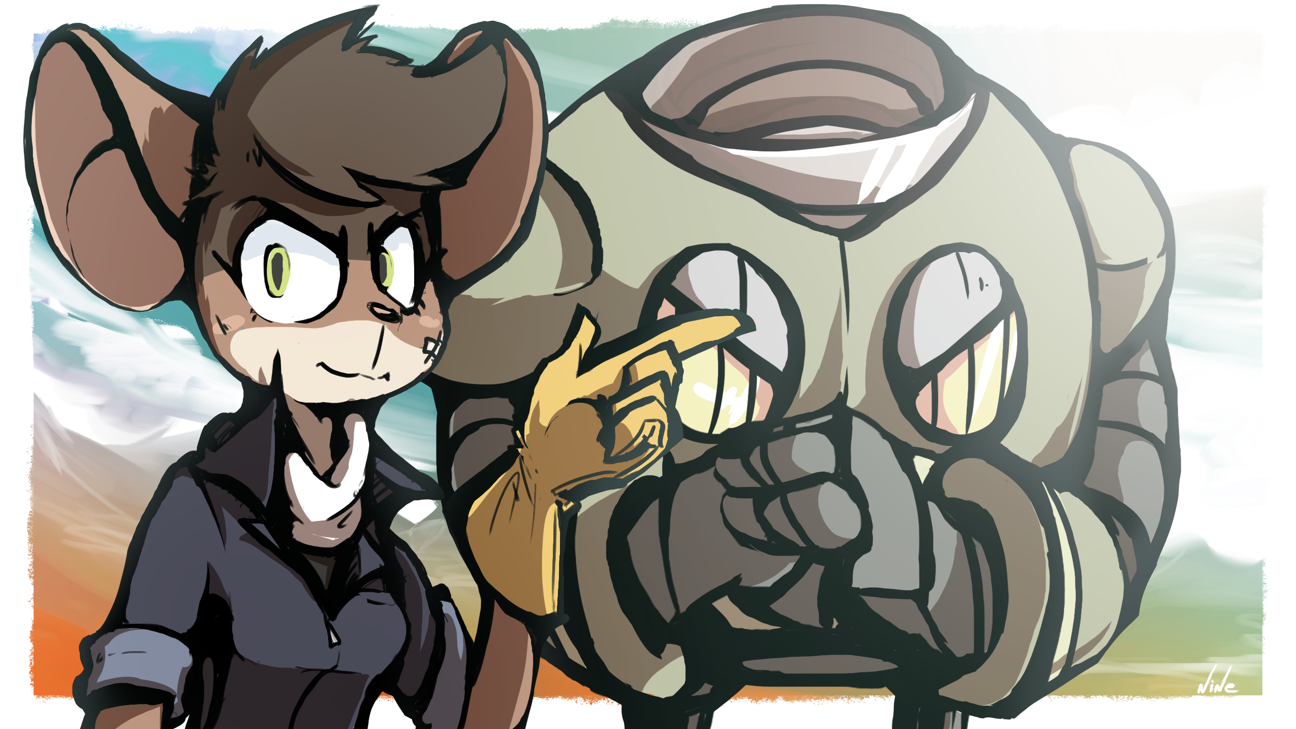 Mags and her Mecha