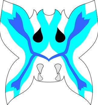 Vizard mask, butterfly blue