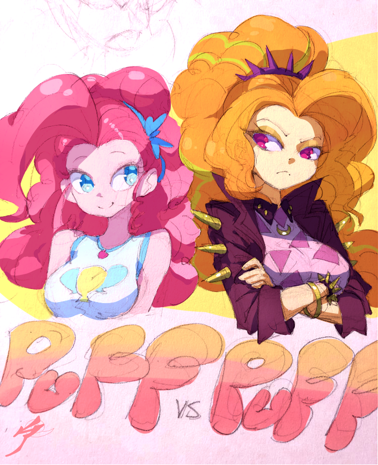 Puff Battle: Pinkie vs Adagio