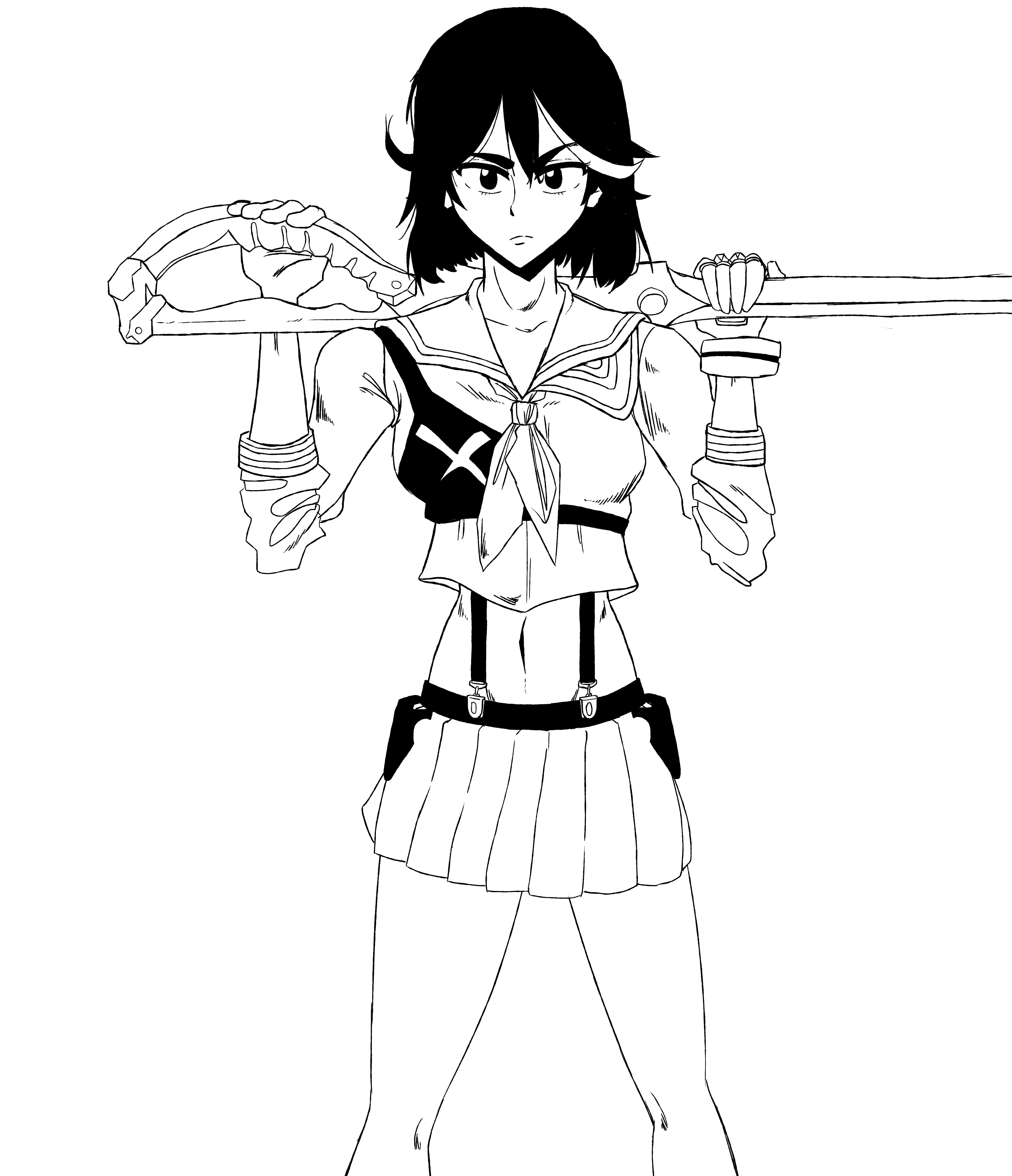 Ryuko sketch II