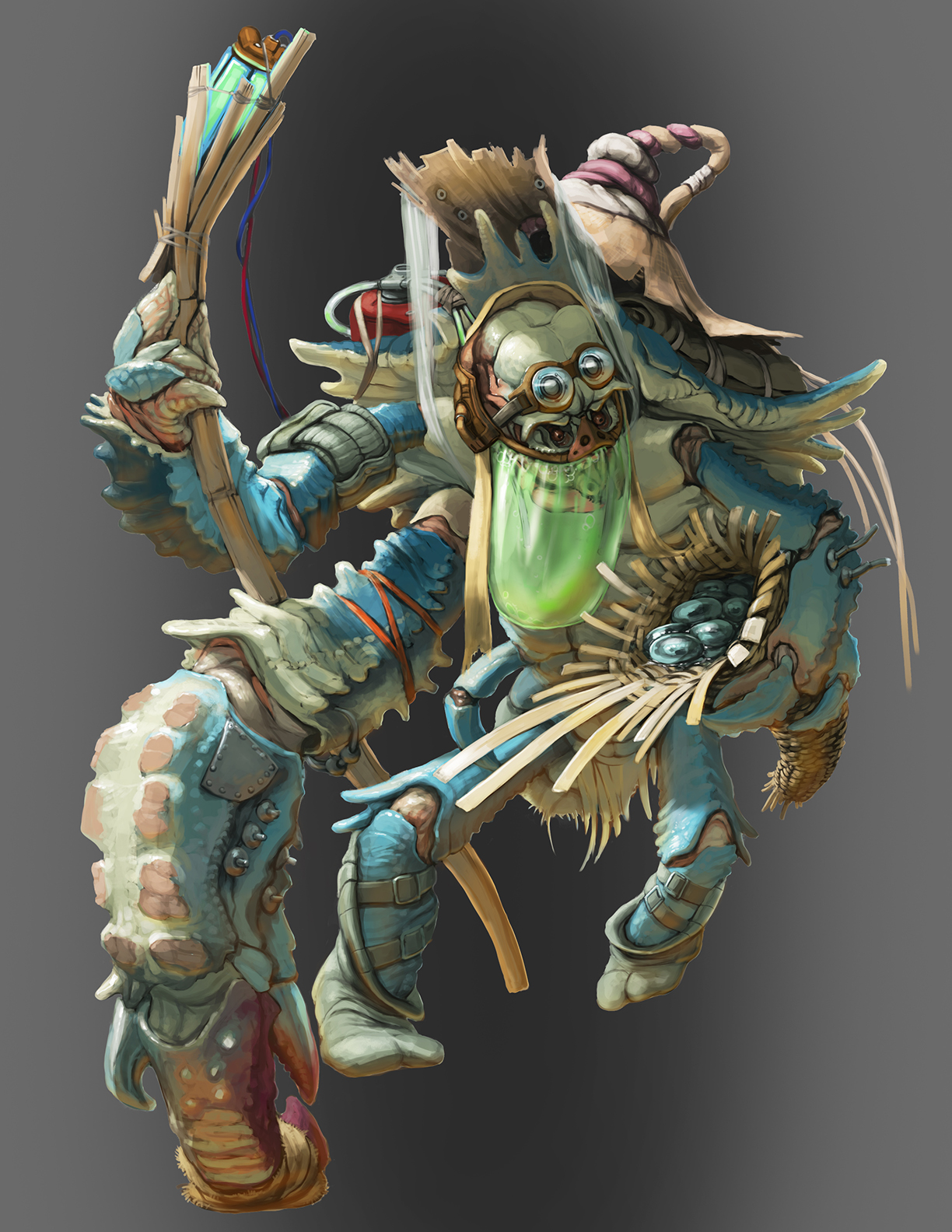 Lien crab-man
