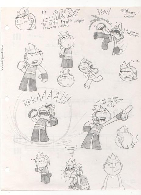 Rover Com Reviews >> Larry sketches by Rovertarthead on Newgrounds
