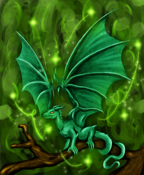 Little Green Dragon By Maszrum On Newgrounds