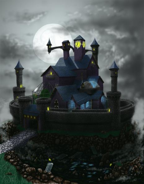 spooky castle by armyofdorkness on newgrounds