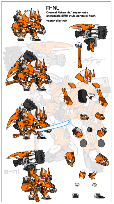 Mecha Flash Sprites 2 By Nch On Newgrounds