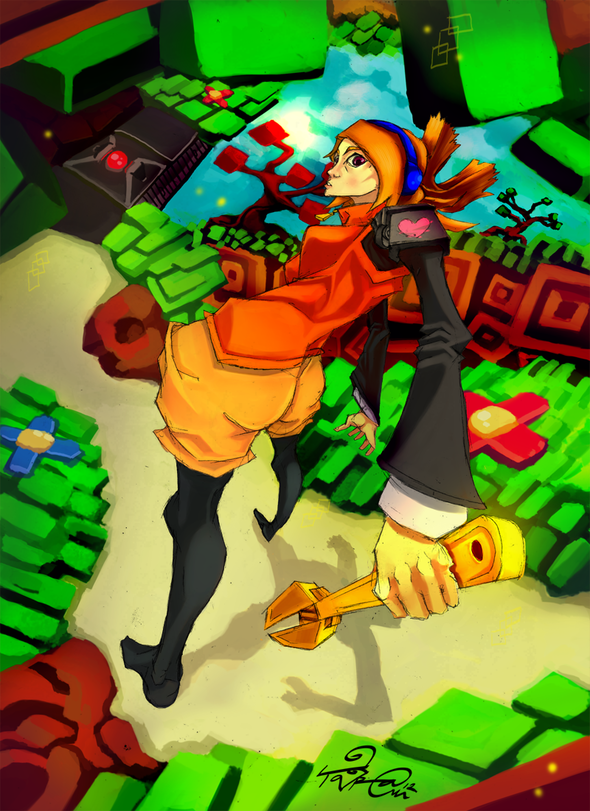 Big As Fan >> Robin-The Iconoclasts by TaraGraphika on Newgrounds