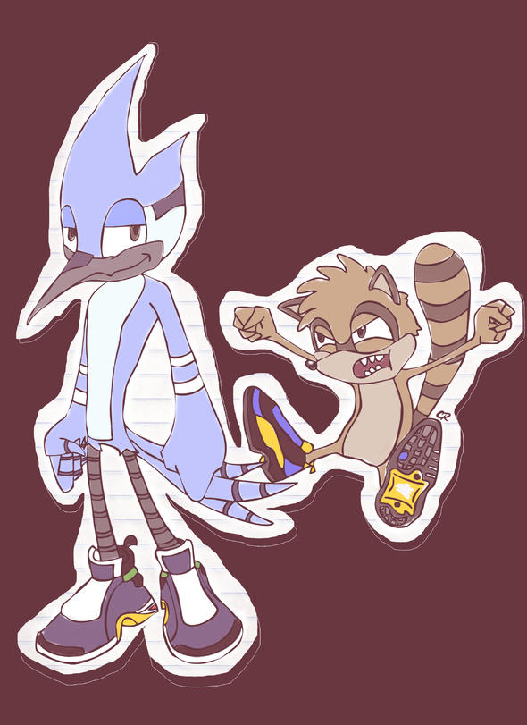 Mordecai And Rigby By Rexhyena On Newgrounds