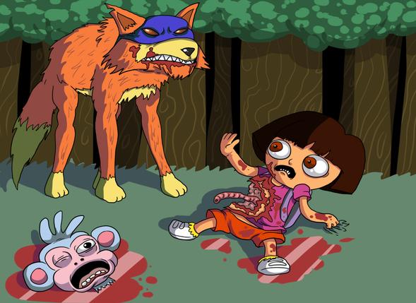 Dora Goes Explorin By Blacklemons On Newgrounds