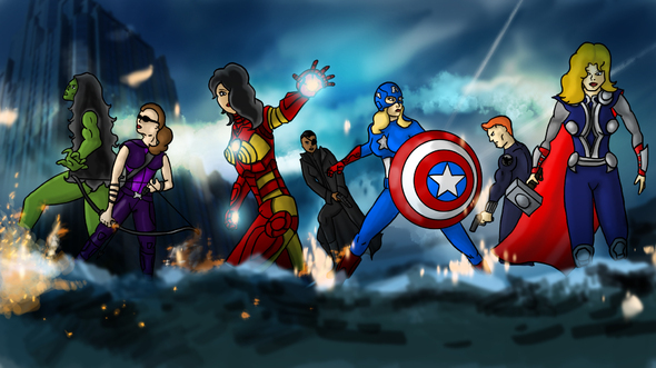 Calendar Illustration Free : Avengers sex change by emcik on newgrounds