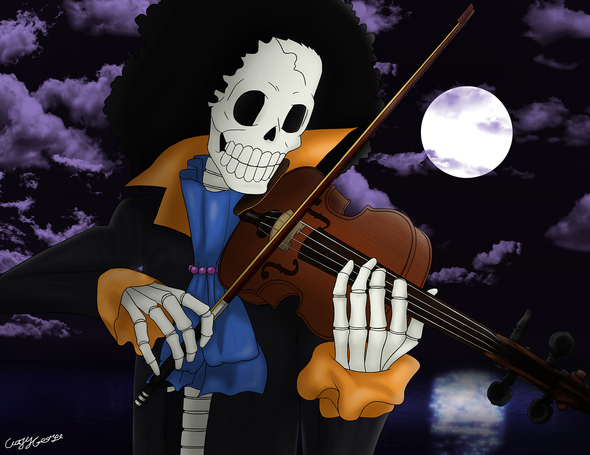 The Skeleton Musician Brook By Crazycreators On Newgrounds