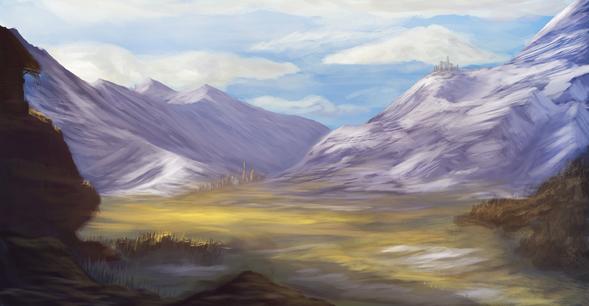 Mountain Range Concept Art By Acrylla On Newgrounds