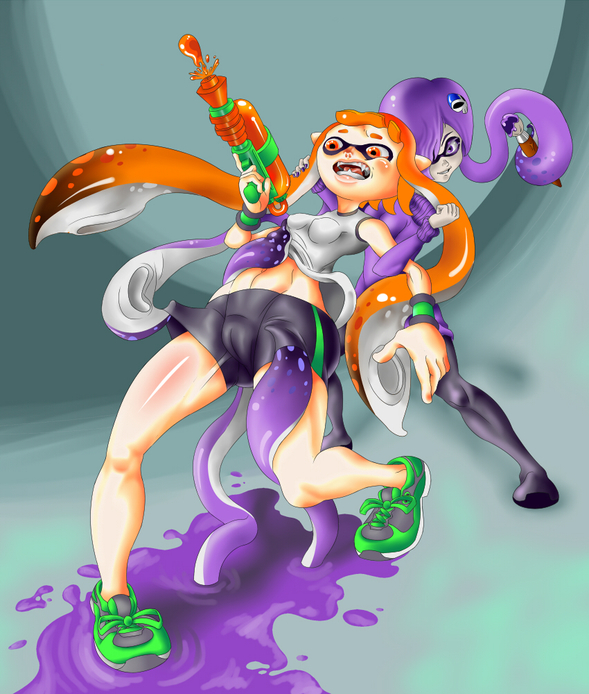 Perks At Work >> Zone-Tan and an Inkling by sketchsumo on Newgrounds