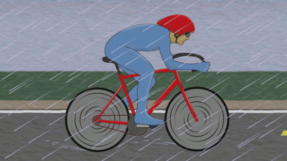Man On a Bicycle (GIF Loop) by TuxedoCatCartoons on Newgrounds