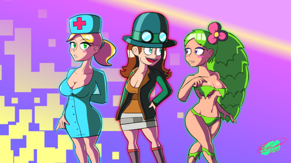 720 Credit Score >> Terraria Nurse, Steampunker and Dryad by Twisted4000 on Newgrounds