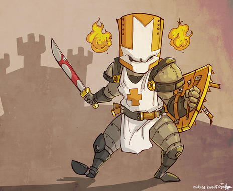The Orange Knight By Jouste On Newgrounds