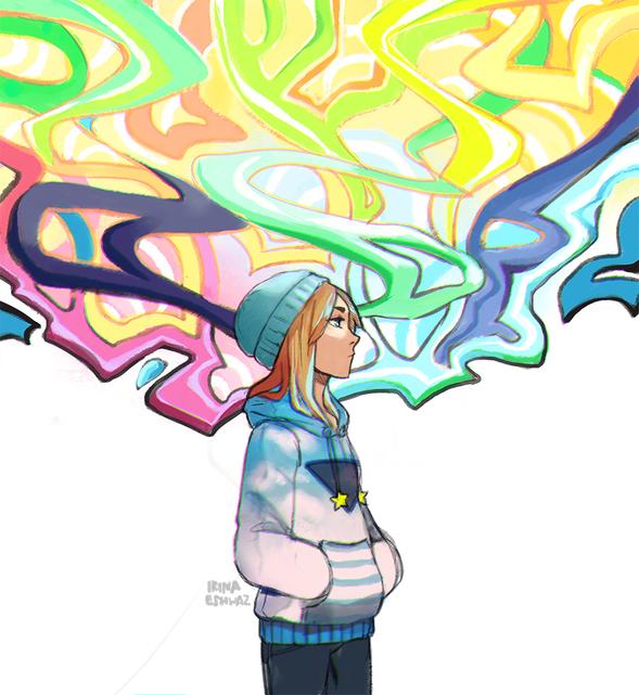 Graffiti Girl By Irinaeihwaz On Newgrounds-3315