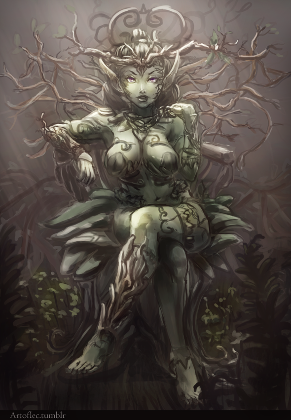 dryad by luisec on newgrounds