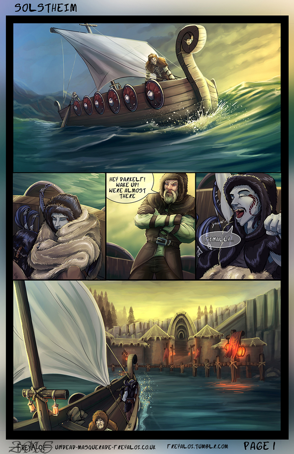 Skyrim comic- Azaril - Solstheim page 1 by Freyaloi on ...