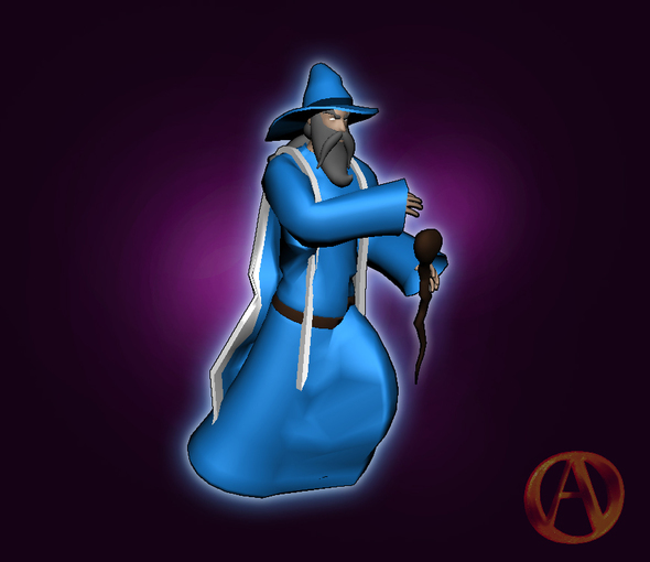Arena online wizard 3d model by johngreene on newgrounds Online 3d modeling