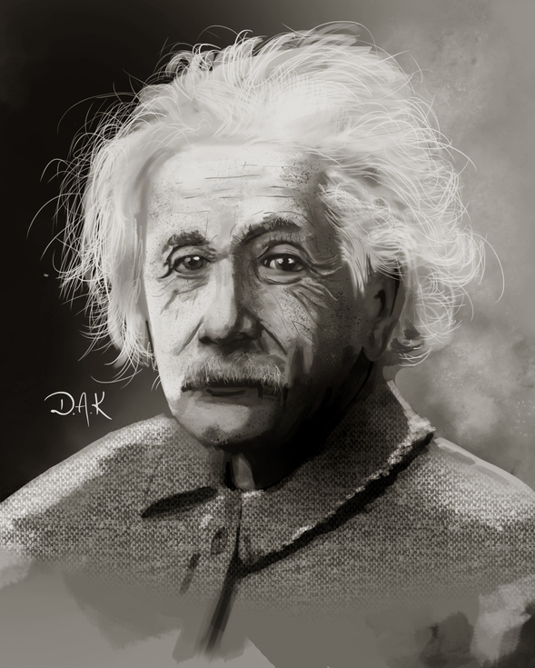 Einstein (Speed Painting) By Alexandrowic On Newgrounds