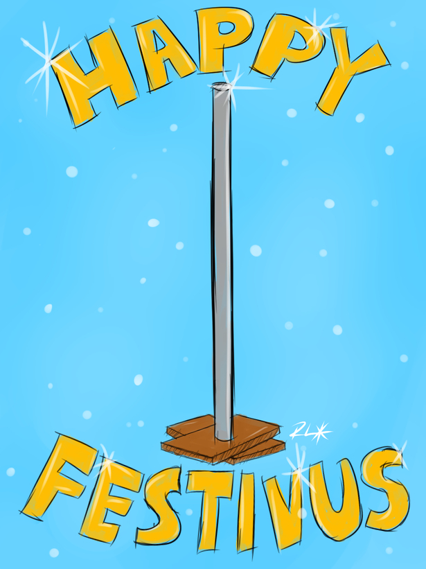 happy festivus colored sketch  by rayleeworld on newgrounds