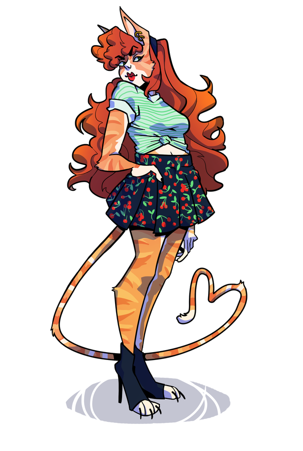 character design  jen the catgirl by bittersoda on newgrounds
