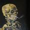 Skull with cig interpretation