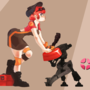 TF2: Girl Engie by rtil