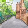 Watercolour Postcard of a Park