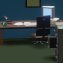 Low Poly 90's Office