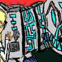 girl with machine