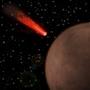 Comet on its way to a crash