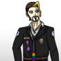 Character Concept: Police Chief Guy Sticker