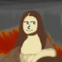 Mona Lisa with a Lenny face