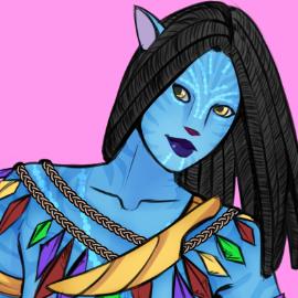 Navi girl _ Avatar by xGrabx | Avatar movie, Avatar
