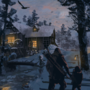 Winter journey concept art
