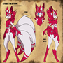 Ref sheet: Kyubell the Kitsune