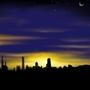 city sunset by ffatboijosh