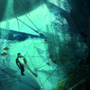 Underwater Cave Concept Illustration