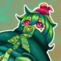 Lilly the frog, lizard, plant girl