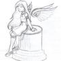 Sitting Angel by Cateyes27
