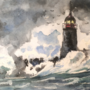 Lighthouse Watercolor Art