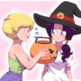 Videl and Erasa halloween shopping