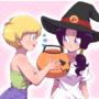 Videl and Erasa halloween shopping